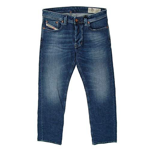Diesel Herren Straight Jeans Larkee, Blau (Blau 01) , W32/L32