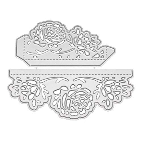 Nankod Metallstanzschablone mit Blumen-Spitze, zum Basteln, Scrapbooking, Album, Stempel, Papier, Karten, Prägung, Basteln und Dekorieren