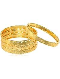 Sukkhi Jewellery Bangle for Women (Golden) (32083BGLDPP400_2.6)