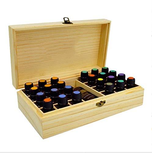Trousses à Maquillage Support en Bois en Bambou Naturel de Rectangle d'étagère d'affichage Fait Main pour Le tri de médecine de Bagage ou de médecine de cosmétiques,