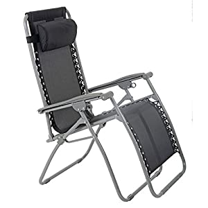 Azuma Zero Gravity Chair - Texteline - Black
