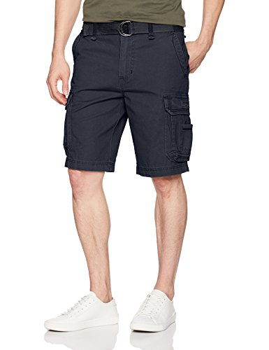 Unionbay Men's Survivor Belted Cargo Short-Reg and Big and Tall Sizes, True Navy, 46 -