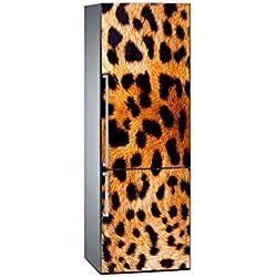 Oedim Vinilo para Frigorífico Textura Leopardo 185 x 60 cm   Adhesivo Resistente y de Fácil Aplicación   Pegatina Adhesiva Decorativa de Diseño Elegante