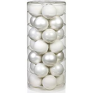 Inge Glas 15112D003 Kugel 60 mm, 28-Stück/Dose, Just white Mix(weiss,porzellanweiss)
