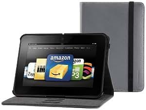 Marware Eco-Vue Echtleder-Hülle für Kindle Fire HD 7 Anthrazit (nur geeignet für Kindle Fire HD 7 [Vorgängermodell])