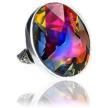 Cristales de Swarovski Beautiful anillo volcán Certificado de Jean Paul Gaultier–Plata de Ley 925