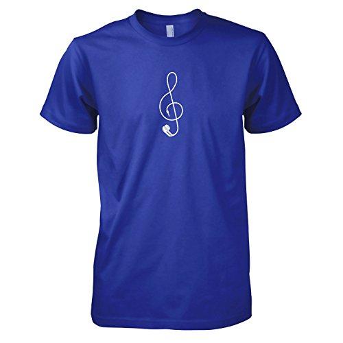 TEXLAB - Earplug Music - Herren T-Shirt Marine