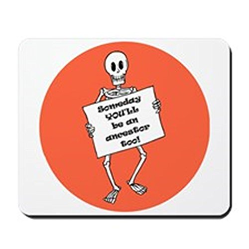 CafePress-GENEALOGIE Halloween-rutschfeste Gummi Mauspad, Gaming Maus Pad