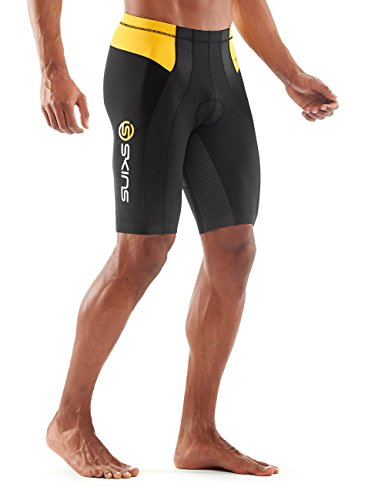 Skins Herren Tri 400 Mens Shorts Black/Yellow Black/Yellow