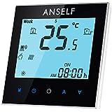 Anself - Termostato Programable de Calefacción de Agua, WIFI Inteligente de LCD Pantalla Táctil, 3A 110-240V