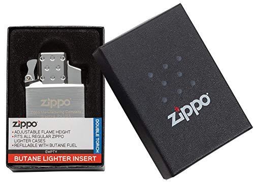 Zippo Butane Gas Insert-Double Flame, Metall, Silber, 6 cm