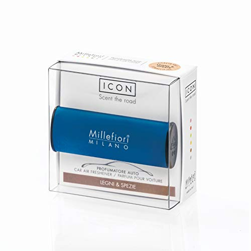 Millefiori Profumo per auto Millefiori ICON colore blu fragranza Legni & spez