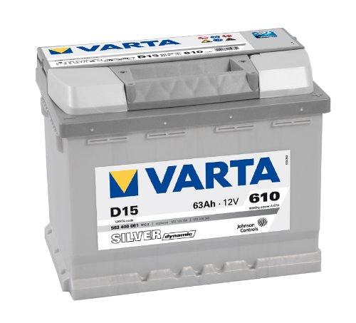 Preisvergleich Produktbild Varta Silver Dynamic 563 400 061 Autobatterien, D15, 12 V, 63 Ah, 610 A