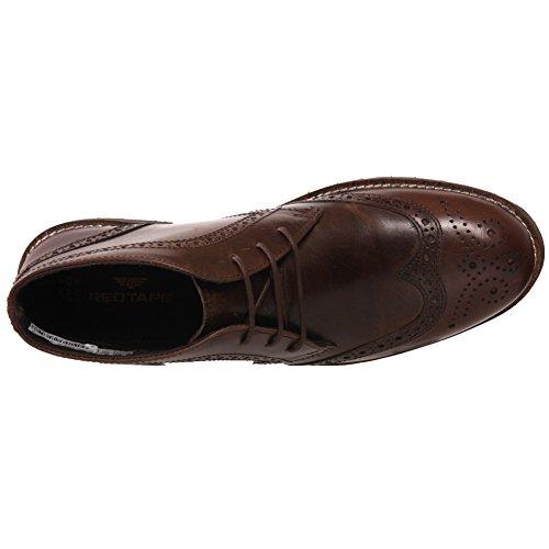 Unze Mens 'Henbury' Leder Wüste Stiefel UK Größe 7-11 - Henbury Braun
