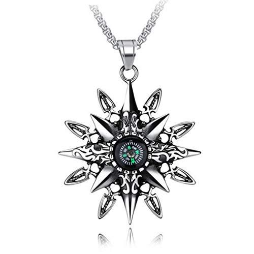 Fansport Herren Halskette Kompass Clavicle Halskette für Outdoor Entwickelt