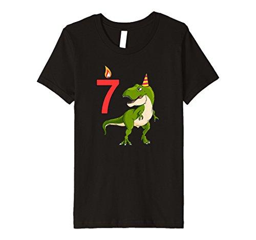 Kinder T-Rex Geburtstags T-Shirt 7 Jahre Geburtstag Dino Geschenk