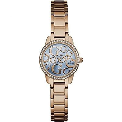 Guess Reloj Analógico para Mujer de Cuarzo con Correa en Acero Inoxidable W0891L3