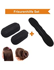 ZADAWERK® Dutthilfe & Volumenhilfe - Donut Hair Bun Maker Brautfrisur Frisurenhilfe Haarknoten Volumen-spange
