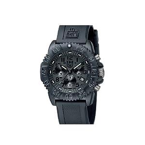 Luminox Navy Seal Colormark 3081.BO - Reloj de caballero de cuarzo, correa de caucho color negro de Luminox