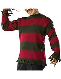 Freddy Krüger Deluxe Sweatshirt Herren Kostüm Halloween Nightmare Elm Gr XS - XL