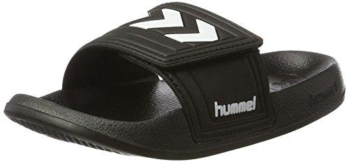 Hummel Larsen Slipper Velcro, Mocasines Unisex Adulto, Negro (Black), 37 EU