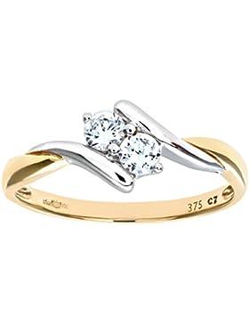 Citerna Damen-Ring 9 Karat (375) Weißgold Diamanten PR7629DIA+CZ PINKT-p