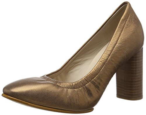Clarks Women's Grace Eva Bronze/Metallic Bronze and Metallic Loafers and Moccasins - 3.5 UK/India (36 EU)