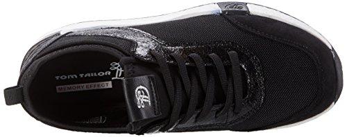 Tom Tailor - 2799104, Pantofole Donna nero (nero)
