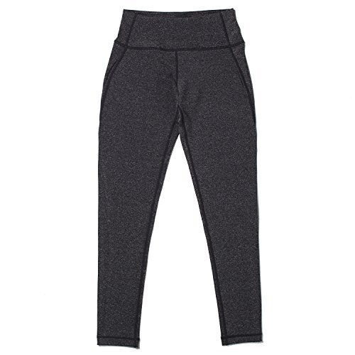Lapasa Fit Women's Yoga Pants Tights Running Leggings (Small, Heather Dark Gray)