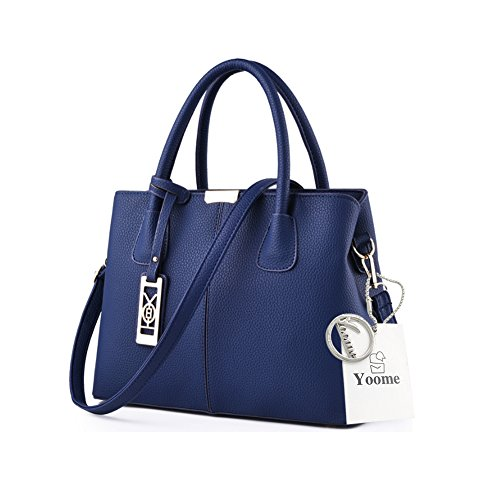 Yoome Lichee Top Handle Crossbody Borse Borse Elegante per Donne Portafogli Portafogli Donna - Navy Blu scuro