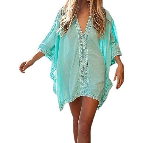 A granel sólidos Embryform mujeres con cuello en V de Playa Bikini Ropa de Playa Vestido de