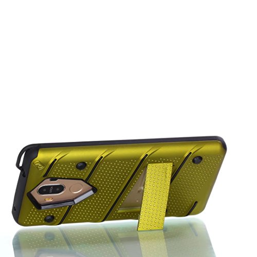Ultra Thin Slim Dual Layer PC + Soft TPU Back Schutzhülle Case [Shockproof] mit Kickstand für Huawei Mate 9 ( Color : Gold ) Green