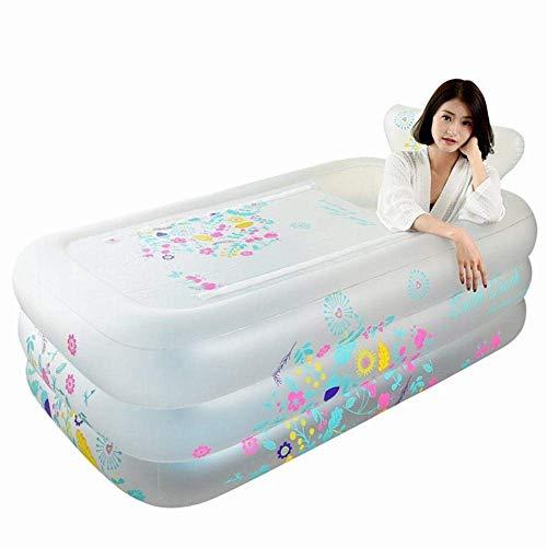 Badewannen Aufblasbare zusammenklappbare, starke warme Lehnstuhl Badewanne, Erwachsene Badewanne, Kinder Badewanne-A, 140 * 90 * 53
