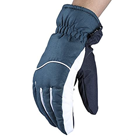OZERO Skiing Gloves, Cold-resistant Skiing Gloves Fit for Men & Women - Wind Resistant and Water Resistant -