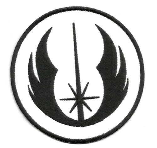STAR WARS Order Galactic Republic Jedi Knights Movie Logo Kid Jacket T shirt Patch Sew Iron on Embroidered Badge (Black) by Mainly Metal