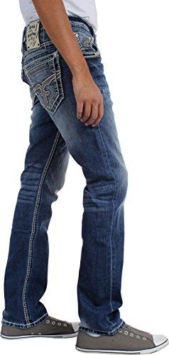 Rock Revival - - Mathis Straight Jeans pour hommes Bleu - Denim