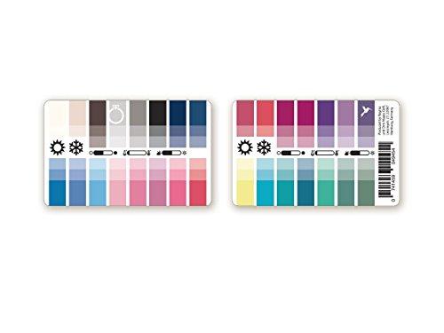farbkarte sommertyp Handlicher Karten-Farbpass Sommer-Winter (Cool Summer) aus Plastik mit 30 typgerechten Farben zur Farbanalyse, Farbberatung, Stilberatung