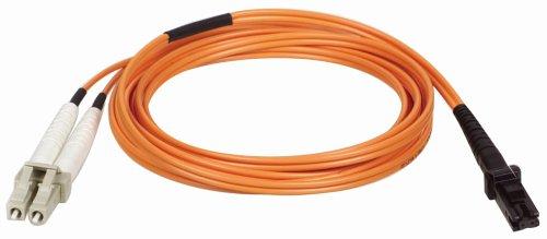 Tripp Lite Duplex Multimode 62.5/125Fiber Patch Cable (MTRJ/LC), 1m-Fiber Optic Cables (1m, MT-RJ, 2x LC, Male/Male, OFNR, Black, Grey, Mode) -