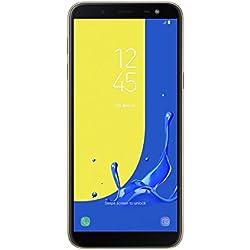 "Samsung Galaxy J6 - Smartphone de 5.6"", 4G, WiFi, Bluetooth, Octa Core 1.6 GHz, Memoria de 32 GB, 3 GB de RAM, cámara Trasera de 13 MP, Android 8.0, Color Dorado"