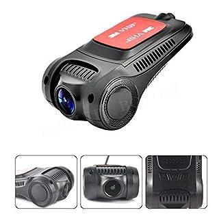 Boruit Autokamera Dashcam Full HD 1080p WiFi Car Dash CAM Armaturenbrett Kamera 1920x1080P mit G-Sensor 170 °Weitwinkel Nachtsicht Bewegungserkennung und Loop Recorder