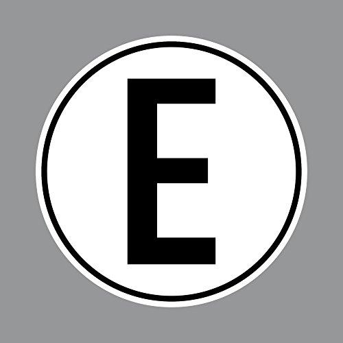 Aufkleber 10cm E für Elektromotor Elektro Motor Antrieb Sticker Mofa Roller Moped Vespa Kart Quad Scooter Racing Rennwagen Motorsport