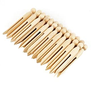 Traditional Wooden Dolly Pegs - pkt 24
