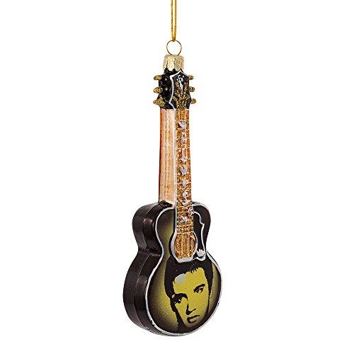 Glas Elvis Bedruckt Image Gitarre Ornament ()