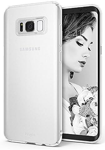 Coque Samsung Galaxy S8, Ringke Slim Ajustement facile, Mince [Découpes sur mesure] Extrêmement légère et mince Revêtement supérieure PC- Étui rigide - Frost White