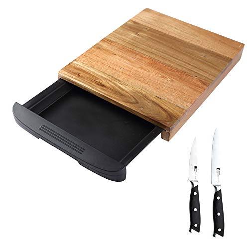 Bergner NATURAL Set de Tabla de Corte y Juego de Cuchillos Master