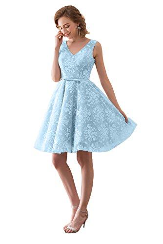 Victory Bridal - Robe - Trapèze - Sans Manche - Femme bleu clair