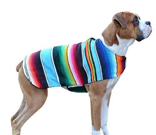 ten Mexikanischen Sarape Hund Pet Poncho Kostüm, X-Small, Serape-Turquoise ()