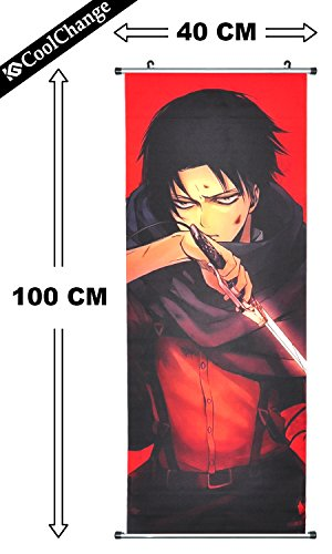 coolchange-attack-on-titan-kakemono-poster-made-of-fabric-100x40cm-theme-levi-ackermann-image-2