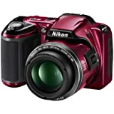 Nikon COOLPIX L810 Compact Digital Camera - Red (16.1MP, 26x Optical Zoom) 3 inch LCD
