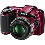"""Nikon Coolpix L809 Appareil photo numérique compact 16,4 Mpix Ecran 3"""" Zoom optique 26x Rouge"""